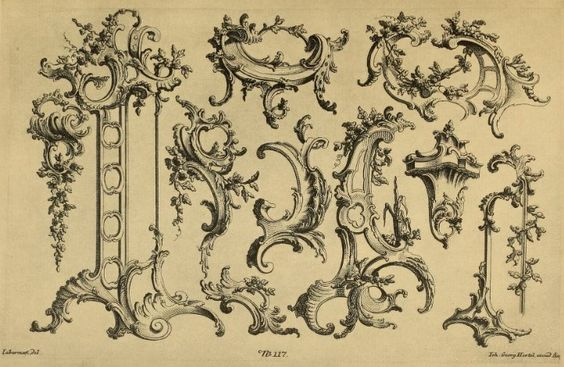 design elements rococo and design on pinterest