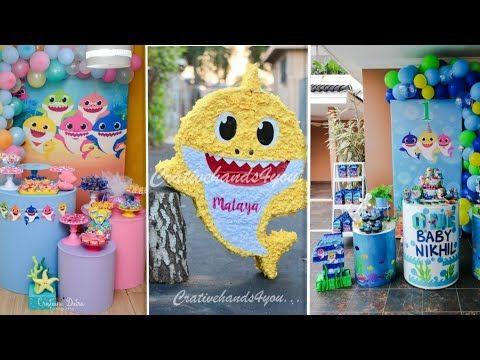 Baby Shark Party Ideas For Birthday 1 بيبي شارك حفلات اعياد ميلاد توائم بيبي شارك Youtube Crochet Hats Crochet Baby Shark