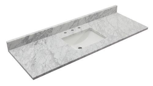 Carrara Marble Vanity Top With Wave