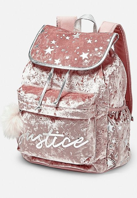 Velvet Logo Star Rucksack Justice Girls Bags Girly Bags Cute Mini Backpacks