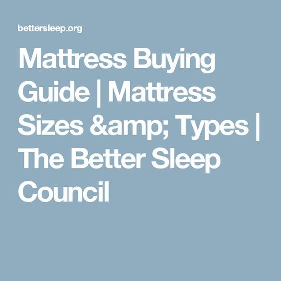 Mattress Ing Guide Sizes Types The Better Sleep Council Choose A Pinterest