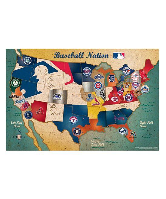 MLB USA Map Puzzle MLB Fan Girl Pinterest Oregon Be Cool - Us baseball map