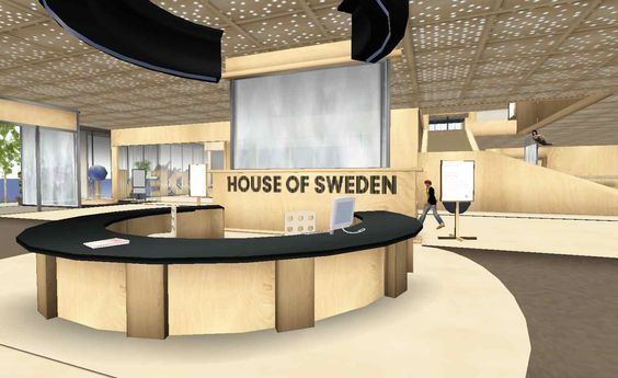 The First Embassy of a Real Country in a Virtual World: