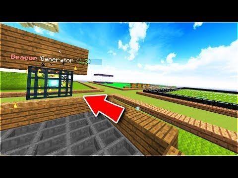 Una Farm Di Beacon Block Minecraft Ita Star Prison Prison Minecraft Stars