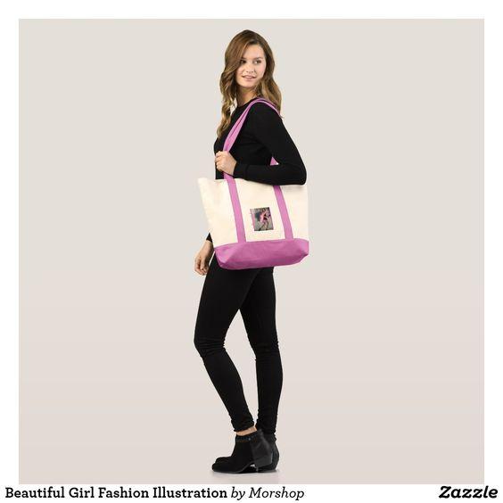 Beautiful Girl Fashion Illustration Tote Bag