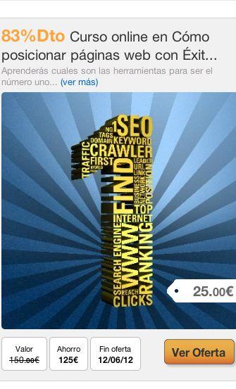 83%Dto Curso online en Cómo posicionar páginas web con Éxito #oferta