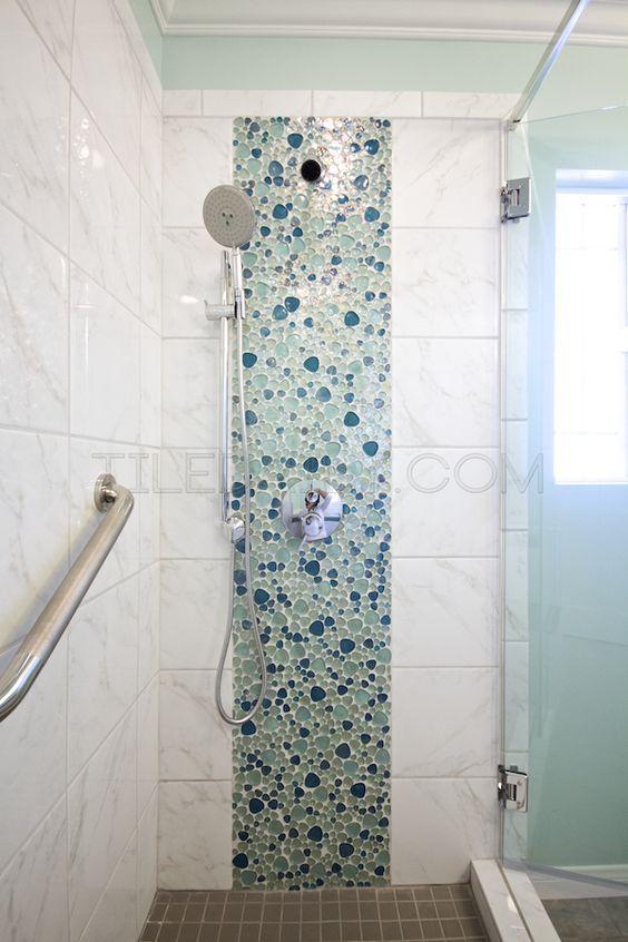 House Ideas Beach Houses Beach House Bathroom Shower Tile Bathroom Ideas Glass Mosaic Bathroom Bathroom Installation Shower Remodel