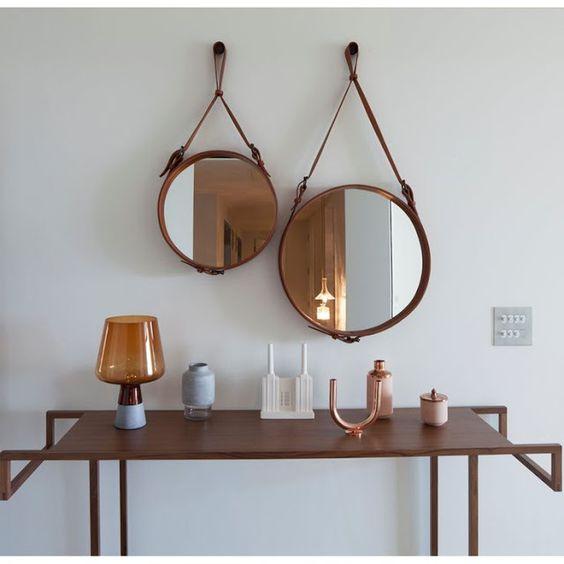 Espelhos Adnet - com alça é tendência na decoração! Saiba como fazer e inspire-se!: