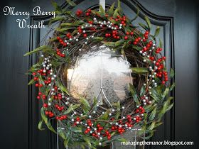 Merry Berry Wreath--15 minute assembly
