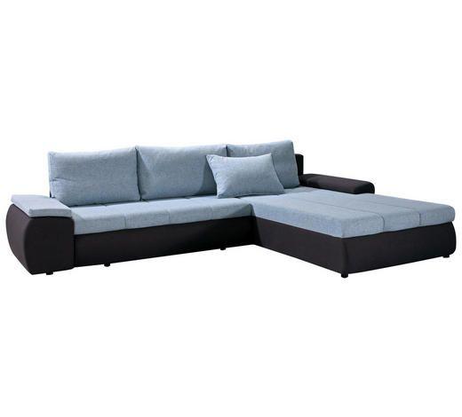 Sedezna Garnitura Antracit Modra Tekstil Sectional Couch Home