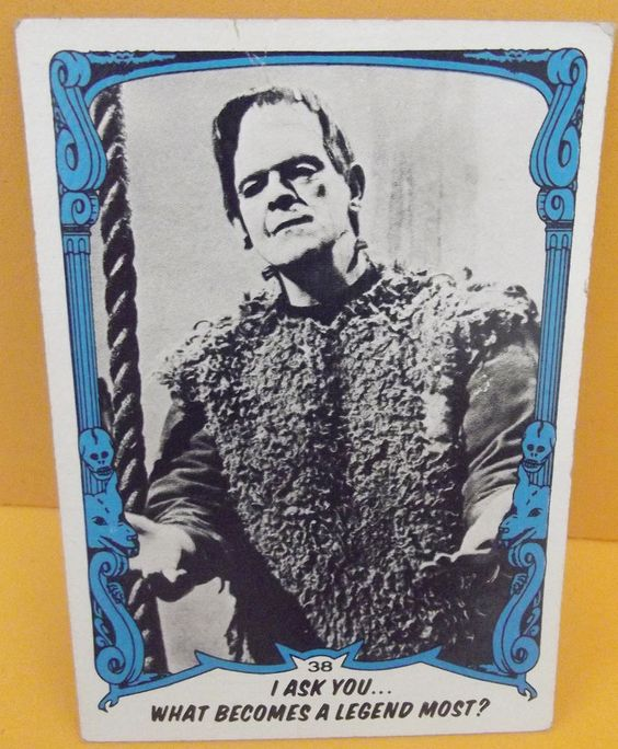 #Frankenstein You'll Die Laughing I Ask You Vintage Trading #Card 1980 Number 38 #Universal