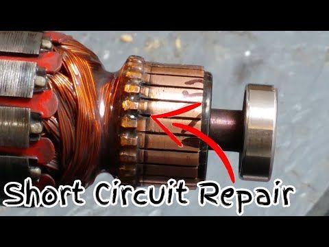 How To Repair Sparking Short Circuit Ryobi Router Commutator Youtube Ryobi Router Repair Ryobi