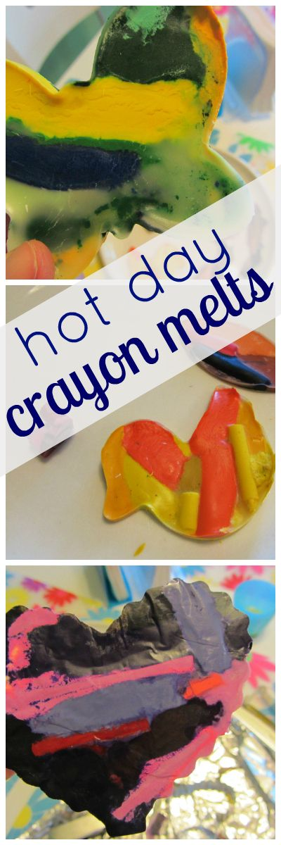 hot summer fun: crayon melts--an easy, totally neat summertime crafty-science experiment for kids  #weteach