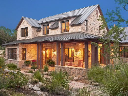 Texas hill country stone and siding home bing images Hill country contemporary house plans