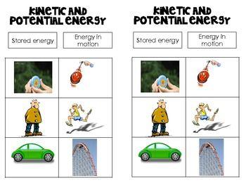 Kinetic Potential Energy Worksheet Worksheets For School