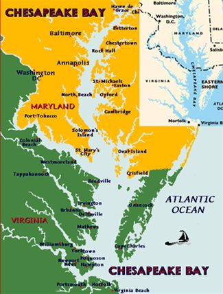 Rocks virginia and chesapeake bay on pinterest for Chesapeake bay fishing map