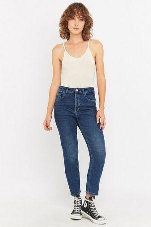 BDG – High-Waist-Girlfriend-Jeans in Winter Blue – Damen 26W 30L