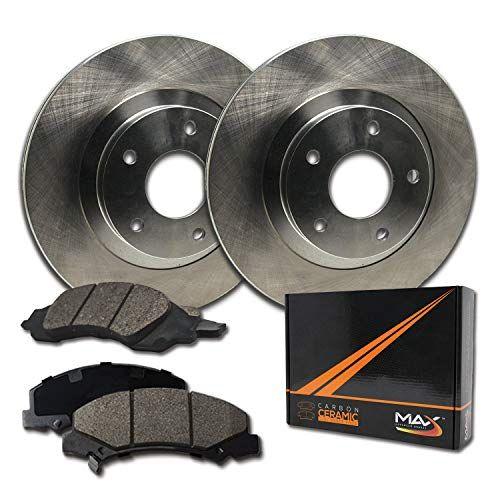 KT015341-34 Max Brakes Front Premium OE Rotors and Ceramic Pads Brake Kit