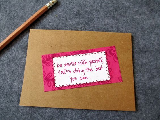 Be Gentle with Yourself Card by EsperanceCrafts on Etsy