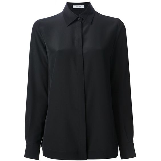 GIVENCHY loose fit shirt ($1,094) ❤ liked on Polyvore featuring tops, shirts, shirts., loose fitting shirts, long sleeve shirts, long-sleeve shirt, givenchy shirt and loose shirts