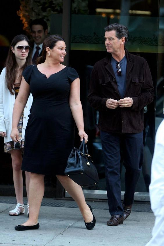 Keely Shaye Smith and Pierce Brosnan #womensfashionplussize2018