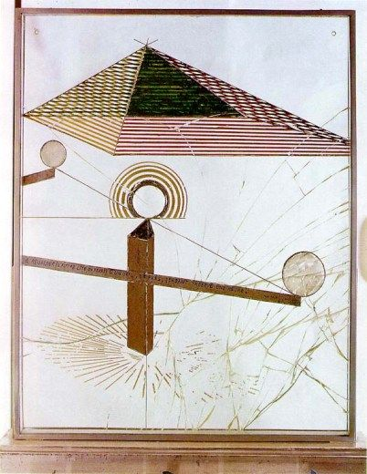 To Be Looked at (from the Other Side of the Glass) with One Eye, Close to, for Almost an Hour, Marcel Duchamp