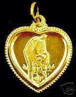 Gold Plated Chinese Sheep Zodiac Pendant CANCER Sterling Silver 925 Jewelry
