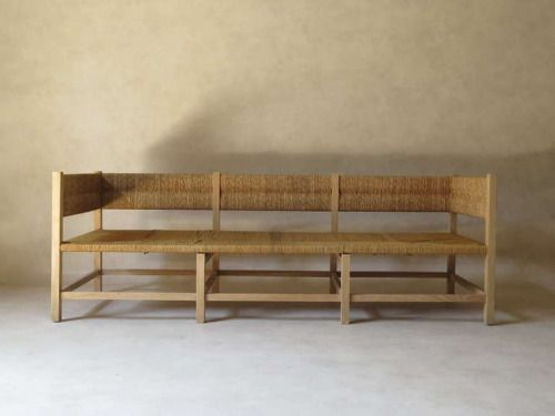"blueberrymodern: "" rush seat settee """