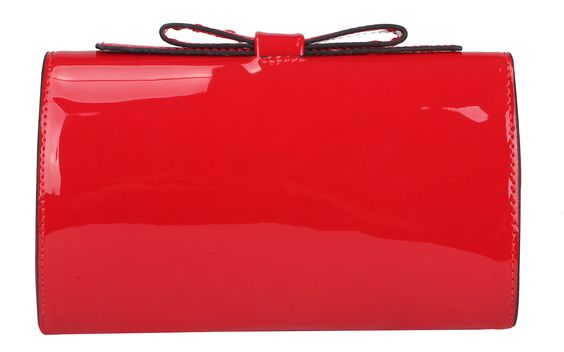 Bow Structured Clutch, Red
