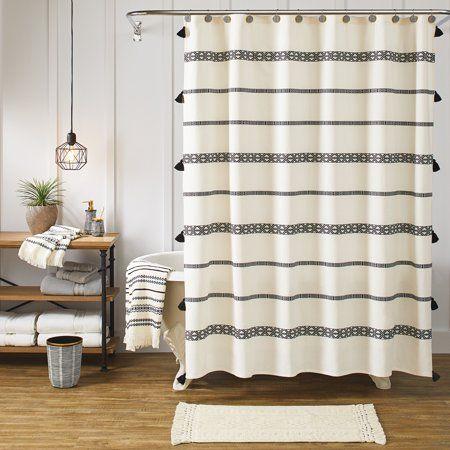 Home Shower Curtains Walmart Boho Bathroom Fabric Shower Curtains