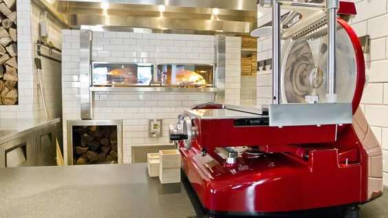 A look at the wood burning oven