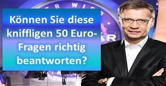 Können Sie diese kniffligen 50-Euro-Fragen richtig beantworten?