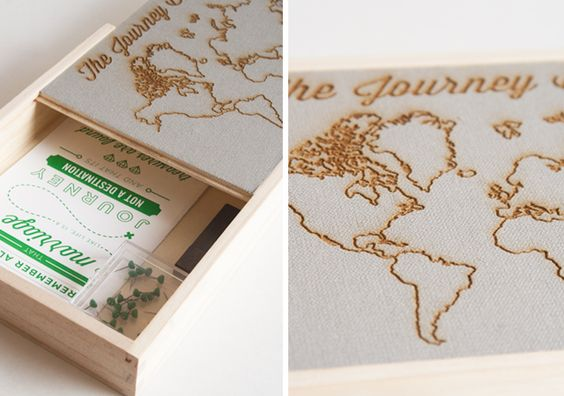 Laser Etched Map Box by Camp Design Group