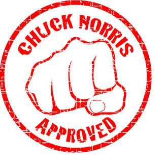 Chuck Norris APPROVED stamp Chuck Norris Pinterest