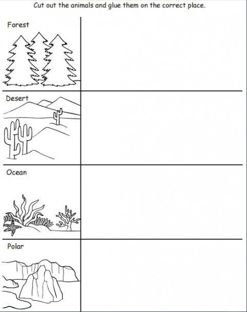 Animal Habitat Worksheets For Kindergarten Animal Habitats Preschool Animal Habitats Kindergarten Worksheets