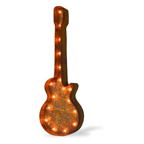 Iconics Guitar Marquee Light - 37L x 4D x 12H in. - TD-50102