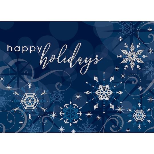 Jam Paper 5 X 7 Holiday Sparkle Blank Cards Matching Envelopes Set 25ct In 2021 Blue Holiday Cards Corporate Christmas Cards Corporate Holiday Cards