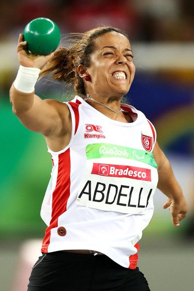 Rima Abdelli of Tunisia competes in the Women's Shotput Final on day 4 of the Rio 2016 Paralympic Games at Olympic Stadium on September 11, 2016 in Rio de Janeiro, Brazil.