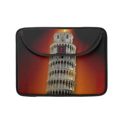 $52.90 #sleeves #macbooksleeves #zazzle #elenaindolfi #towerofpisa   Spice up your commute with the Rickshaw laptop sleeve! Made with rugged Cordura® nylon and featuring an ultra-plush padded liner, this sleeve provides the ultimate level of protection while beautifully displaying custom artwork, designs, and text. Made from scratch in San Francisco with a focus on environmentally sustainable manufacturing, the Rickshaw laptop sleeve is the perfect way to protect your device, without a style…