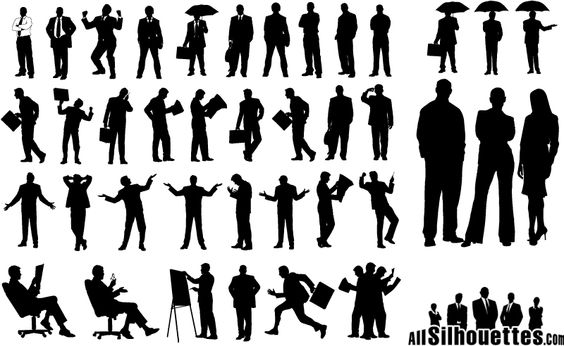 A Number Of Business People Silhouettes Vector Illustration | Lazy Drawing