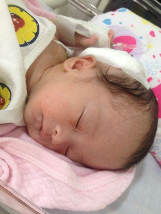 after her 2nd operation #aliyacassie #babylove #shunt