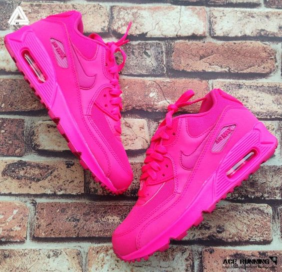 2014 New Nike Air Max 90 Womens Shoes All Pink Red I NEED THESE IN MY LIFE!