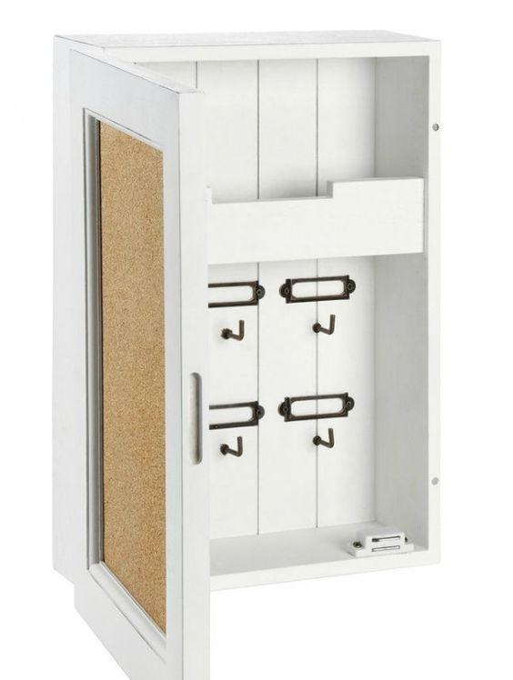 schl sselkasten pinnwand memoschrank tannenholz wei home pinterest. Black Bedroom Furniture Sets. Home Design Ideas