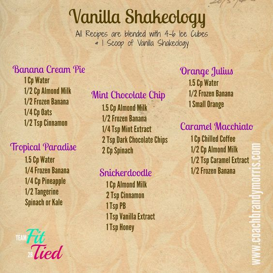 Getting Fit for Good : Vanilla Shakeology Recipes