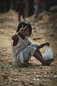 Cute Poor Indian child: