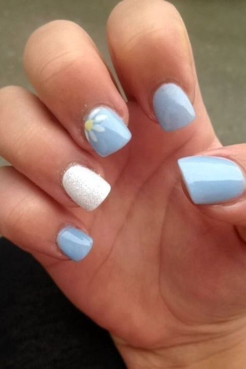 Lovely Blue Nails Ideas For Your Appearance 31 Summer Acrylic