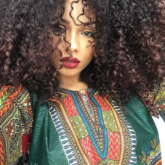 beautiful sexy black woman natural afro textured hair