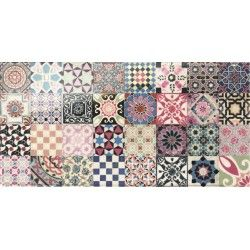 Carrelage design mural brillant multicolore 15 x 30 cm for Carrelage mural multicolore
