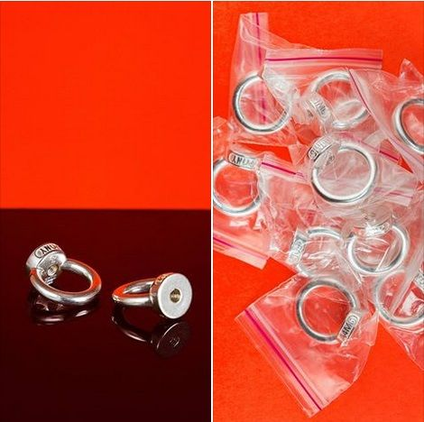 Annea Lounatvuori - rings with a screw thread, silver 925: