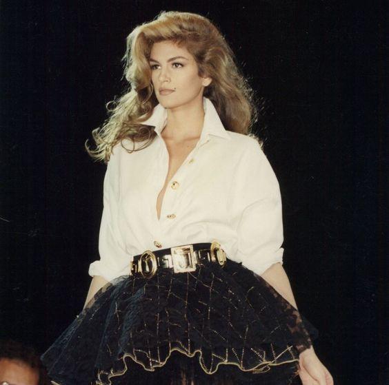 Cindy Crawford at British Designer Week in 1991